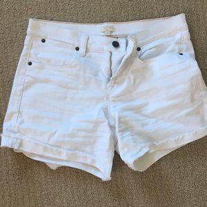 J Crew White Denim Shorts